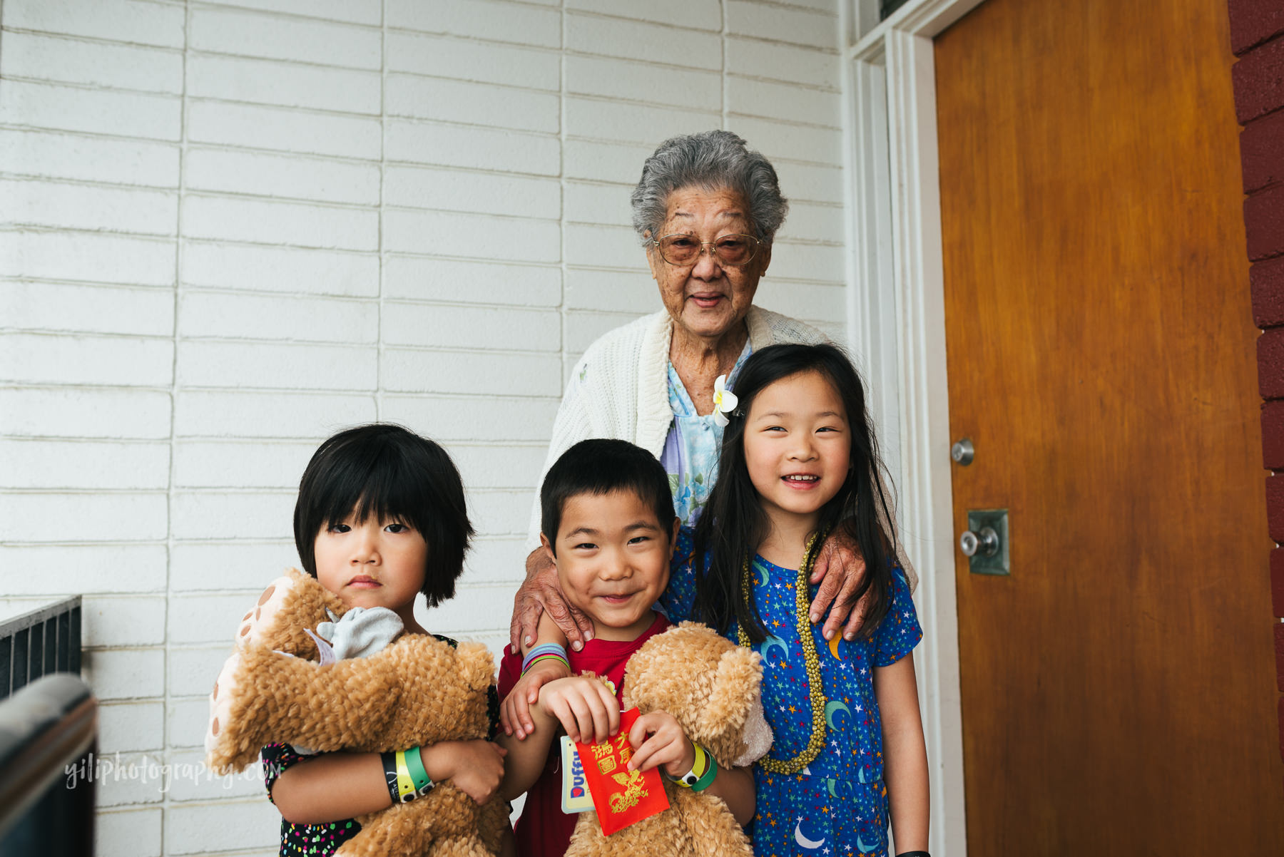 asian american kids with great grandma