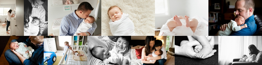 Seattle baby photographer collage