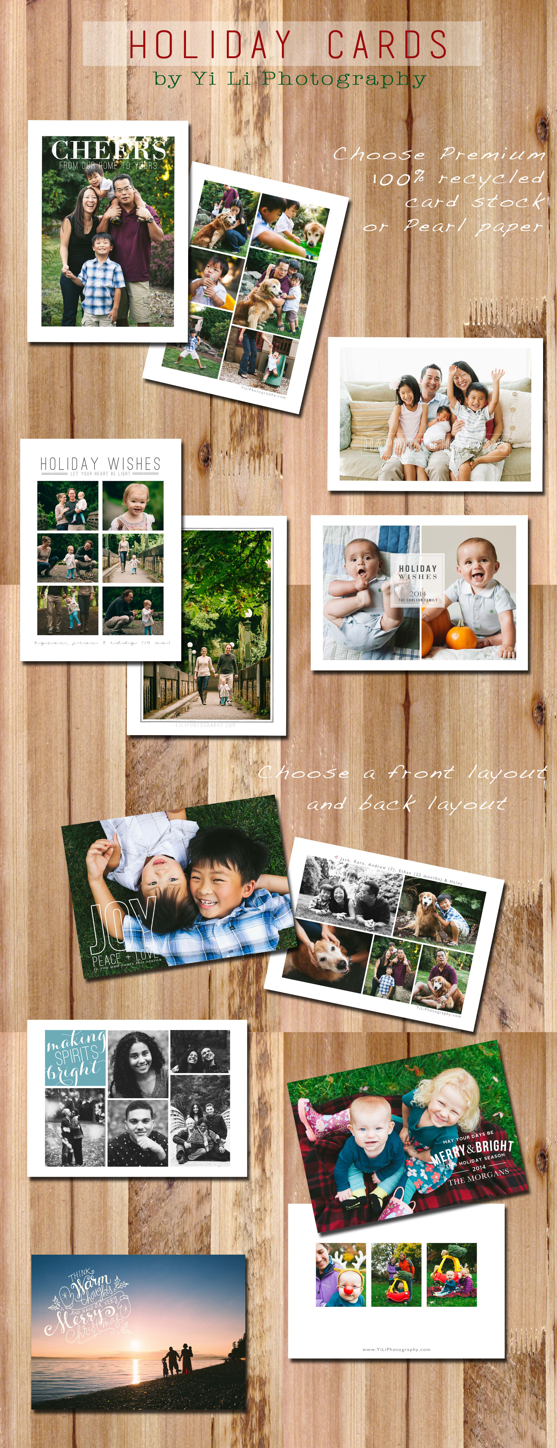 Greeting cards have all been sent holiday cards 2014 yi li seattle custom photo card photographer m4hsunfo