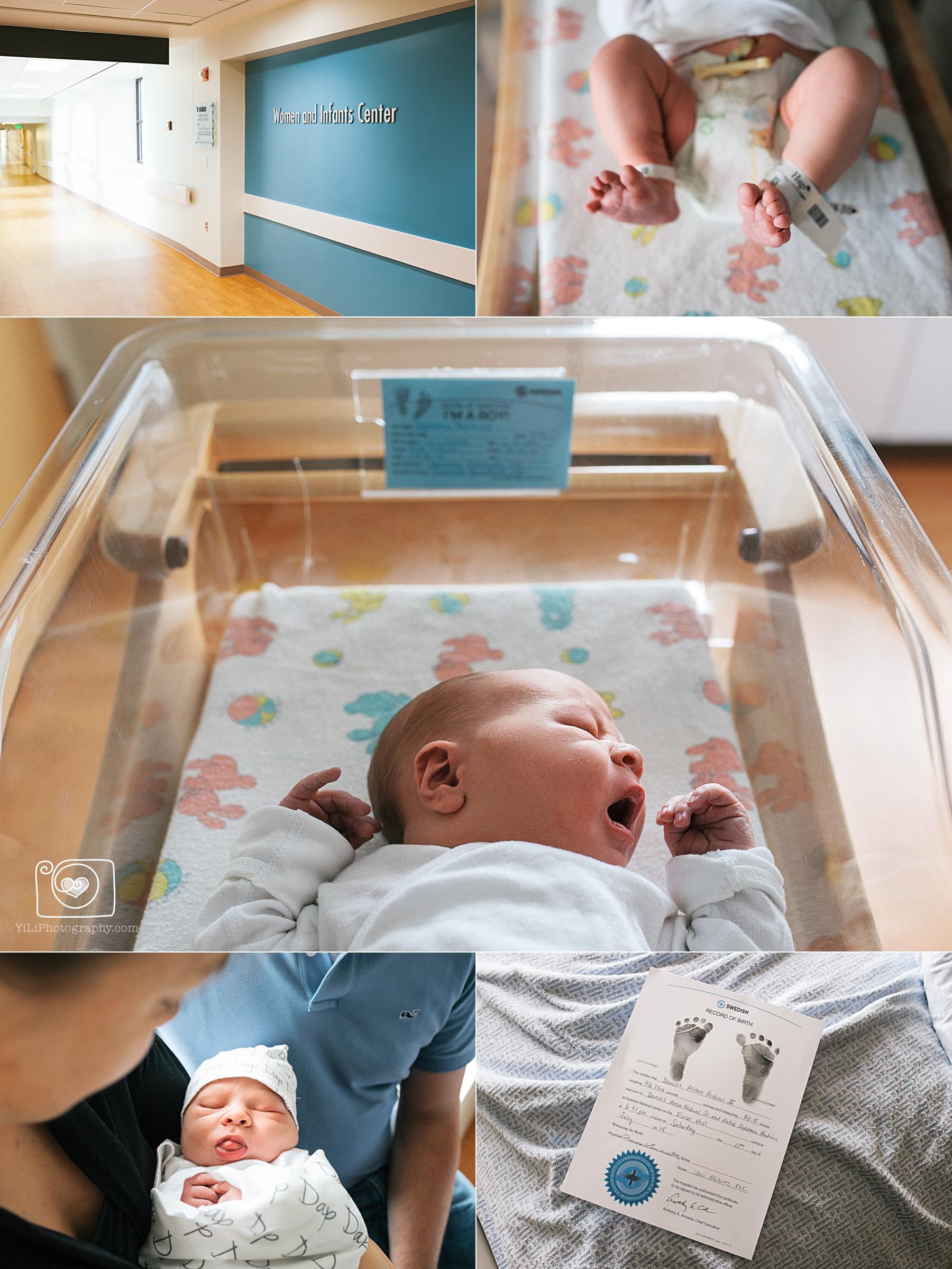 seattle hospital baby photographer