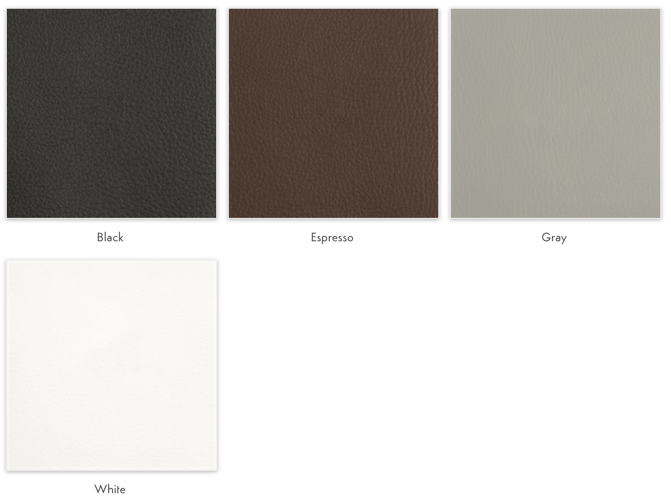 bonded leather color options
