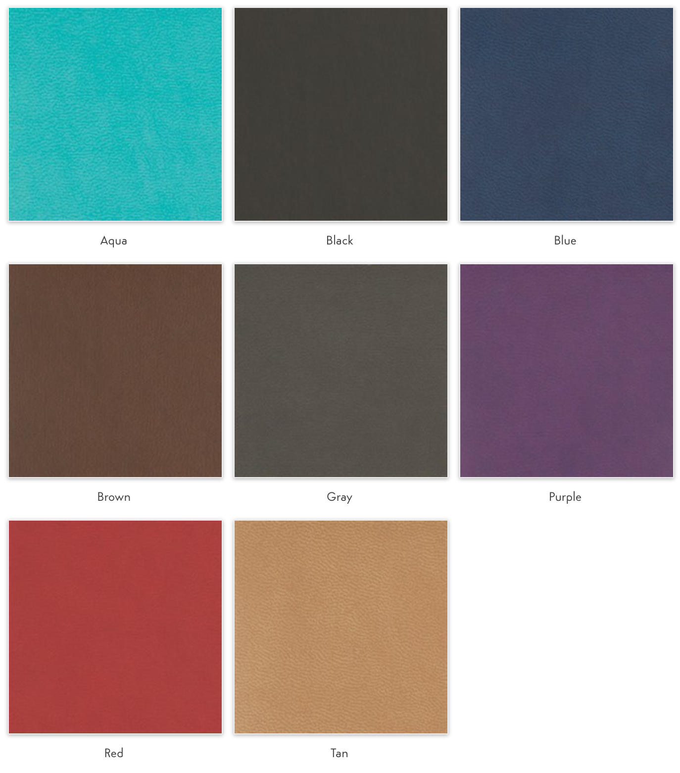 vegan leather colors