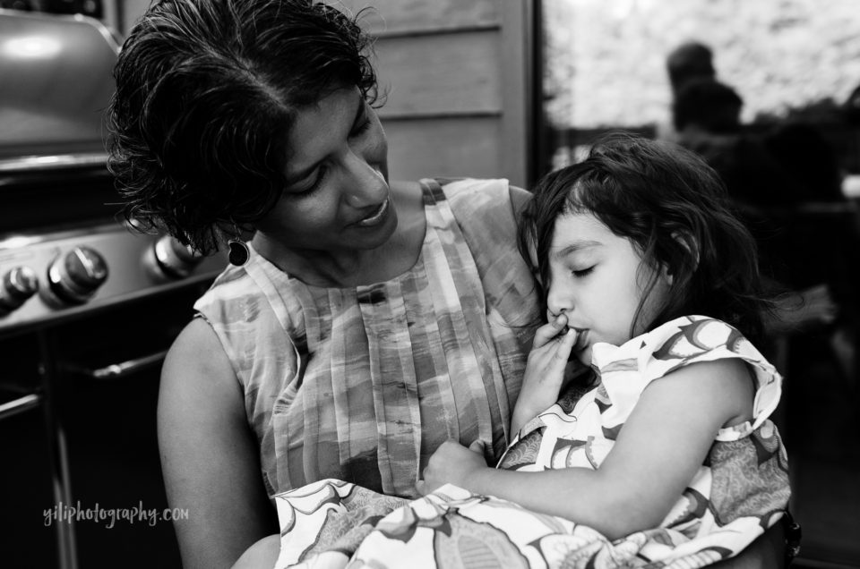 toddler sleeping on mother, seattle documentary photography