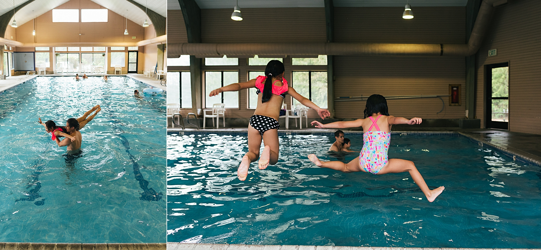kids playing in indoor pool