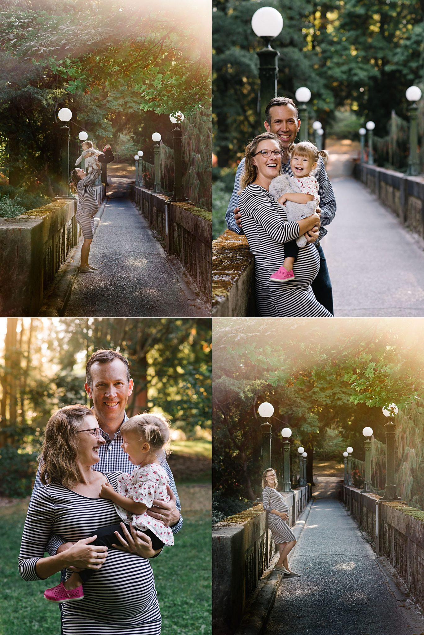 golden hour maternity portraits in washington park arboretum seattle
