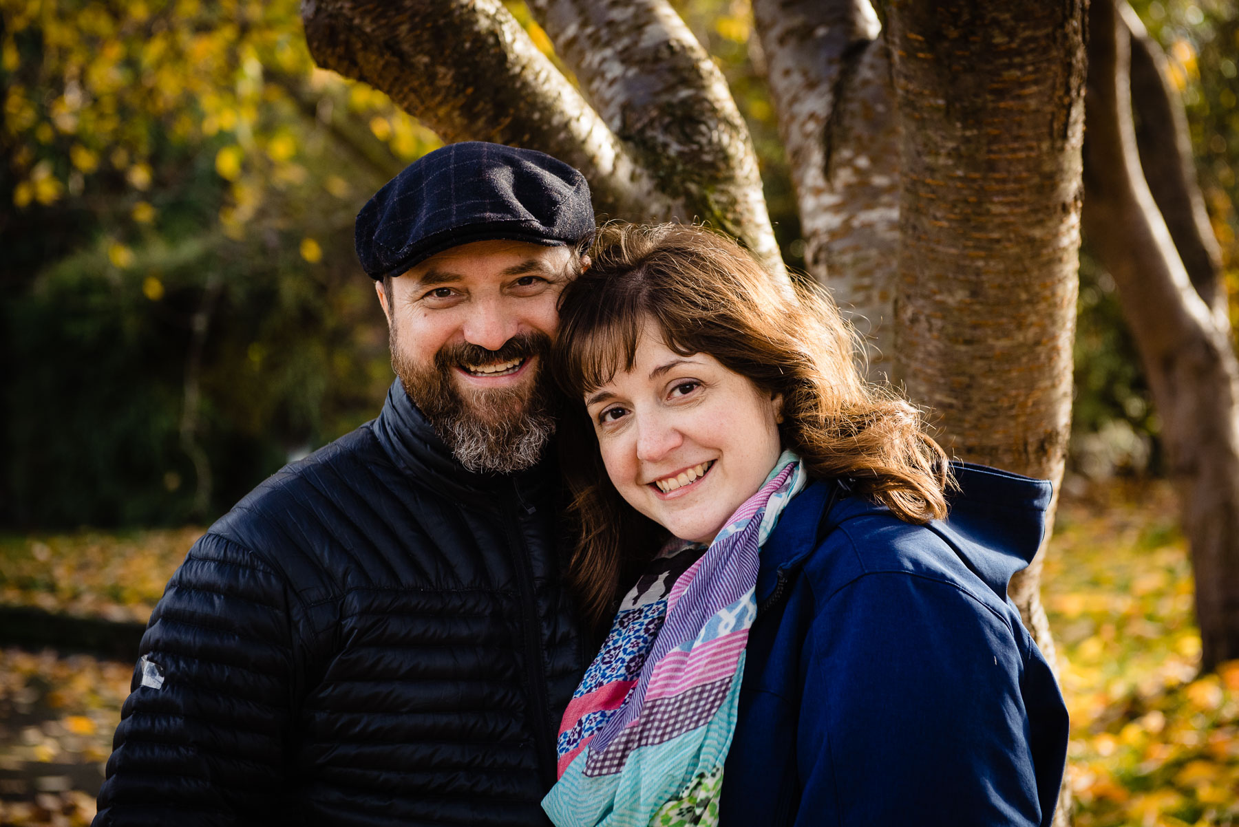 portrait of parents in park