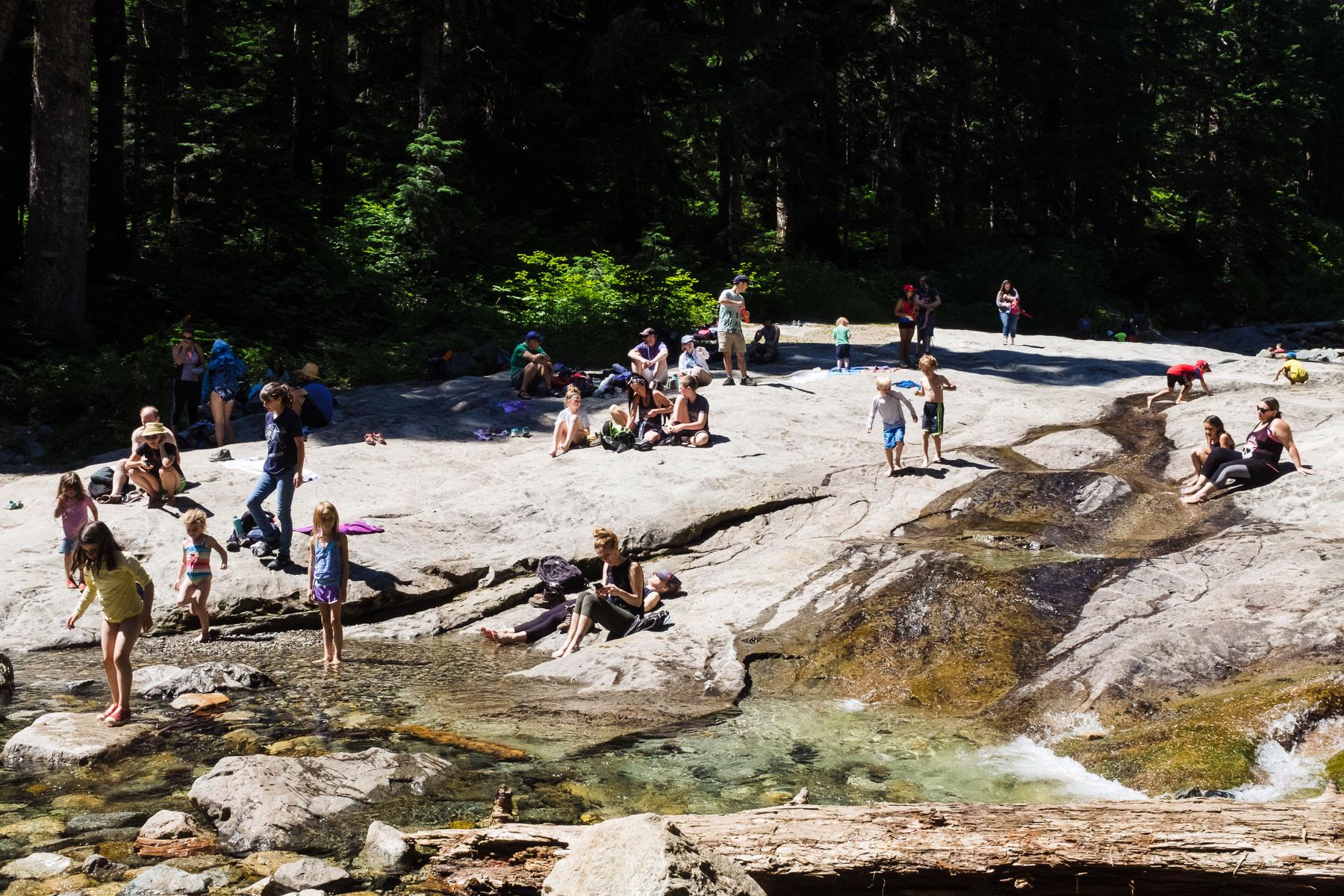 Denny creek hike Mount Baker Snoqualmie national forest