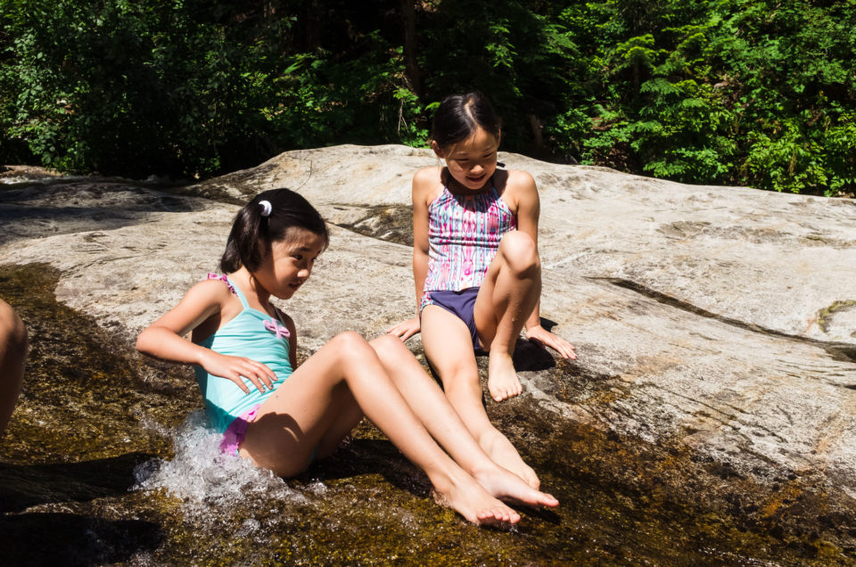 Asian girls playing at Denny Creek